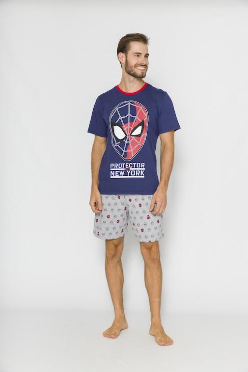 Pijama Masculino Pai e Filho Spider-Man (Produto Oficial) - Tamanho P ao GG