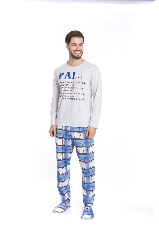 """Pijama Masculino """"Pai e Filho"""" - Tamanho P ao GG"""