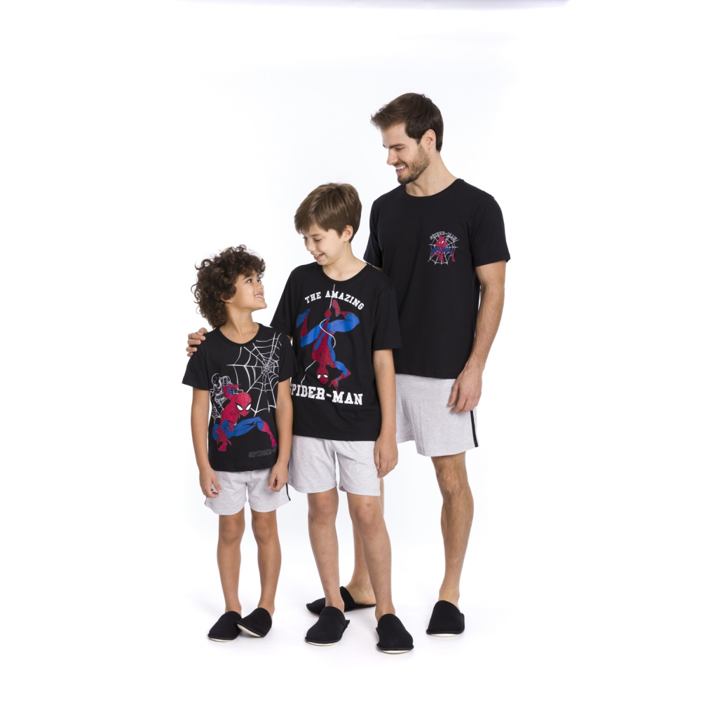 Pijama Masculino Spider-Man - Tamanho P ao GG