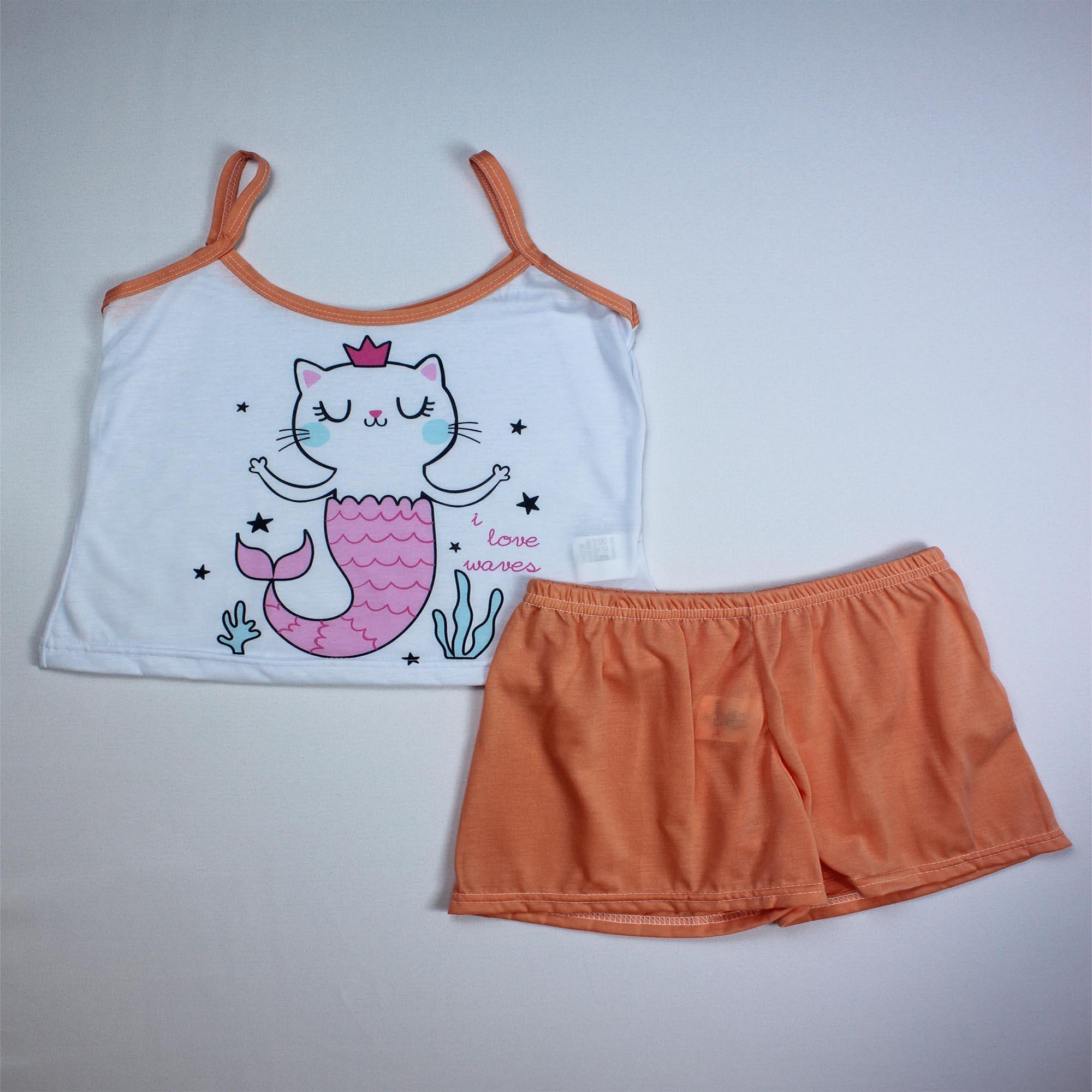 Pijama Regata Infantil Menina - Tamanho 10
