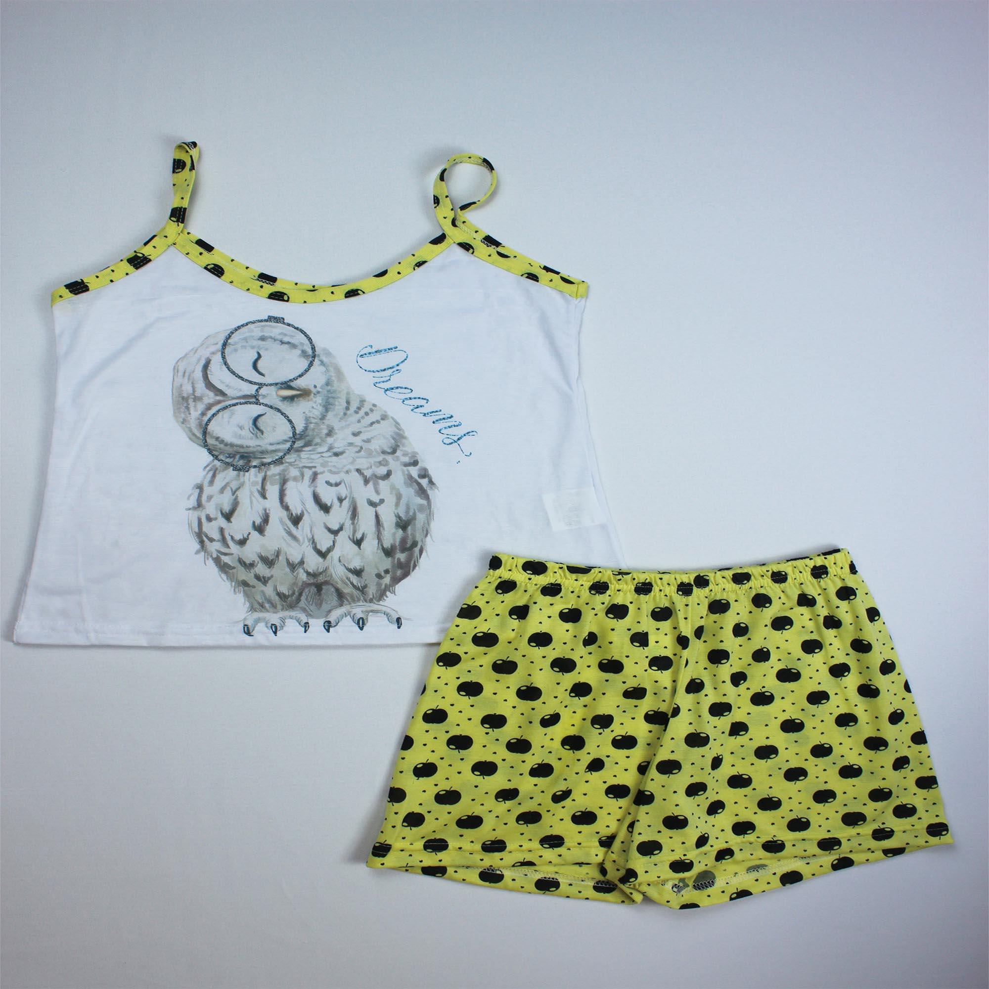 Pijama Regata Infantil Menina - Tamanho 12