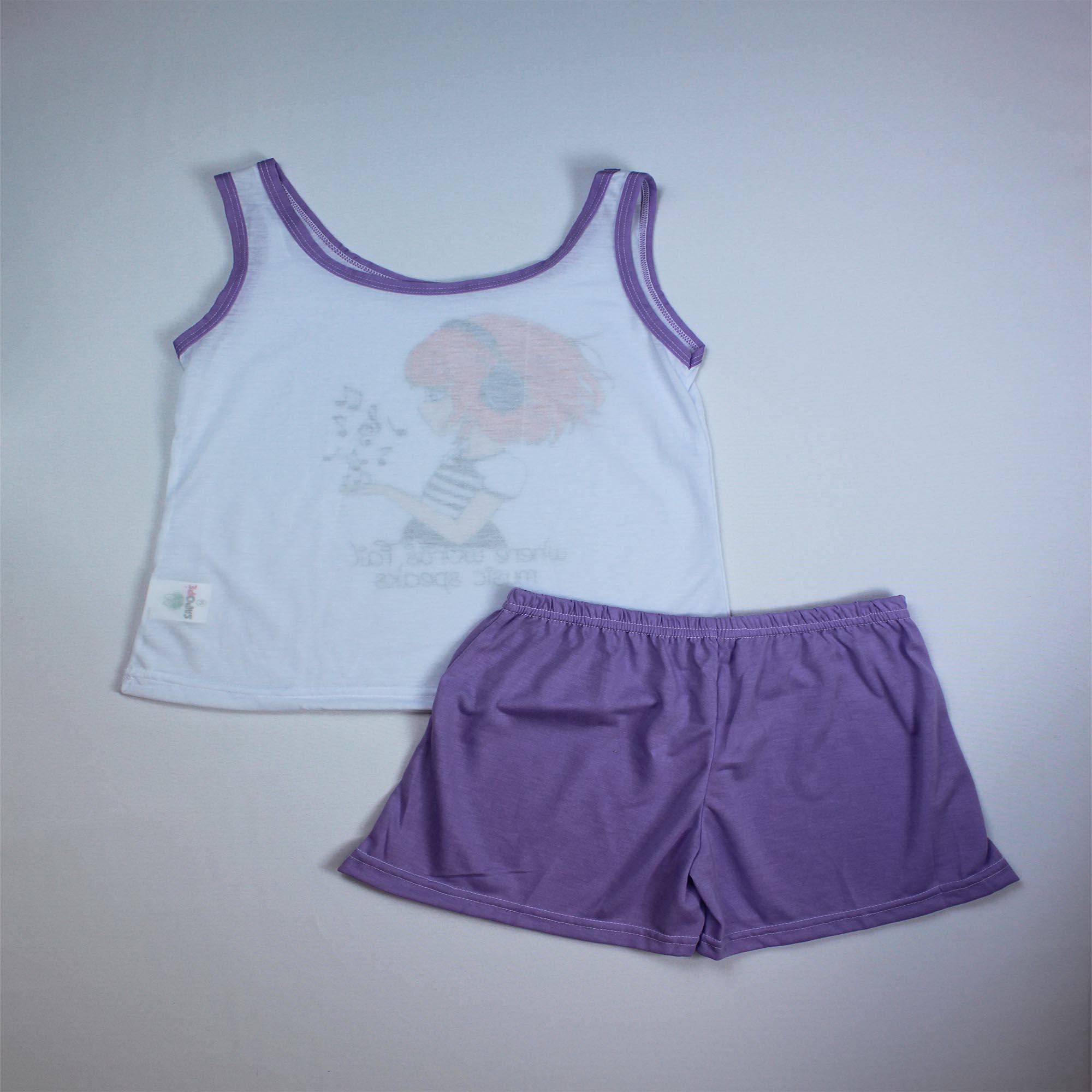 Pijama Regata Infantil Menina - Tamanho 14