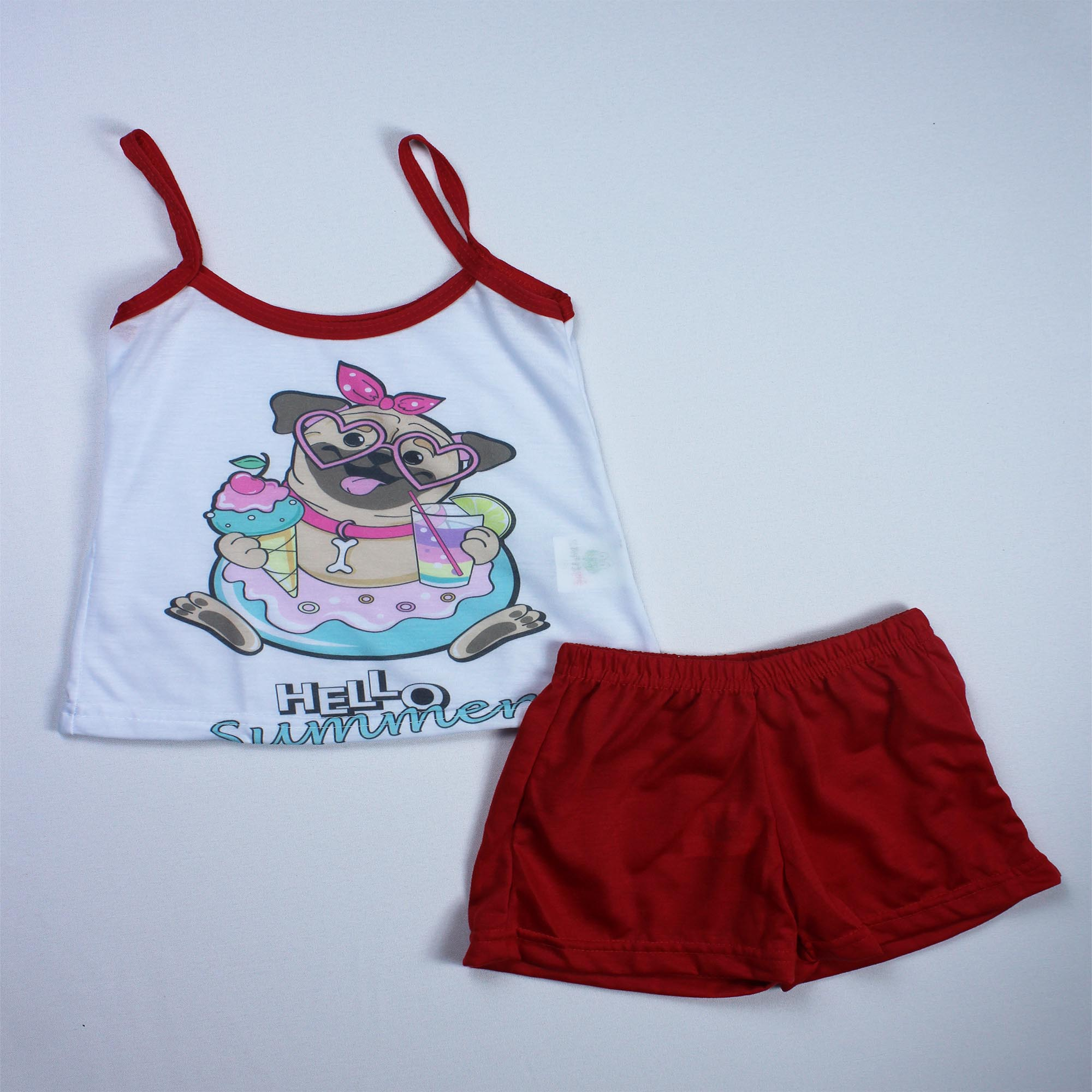Pijama Regata Infantil Menina - Tamanho 4