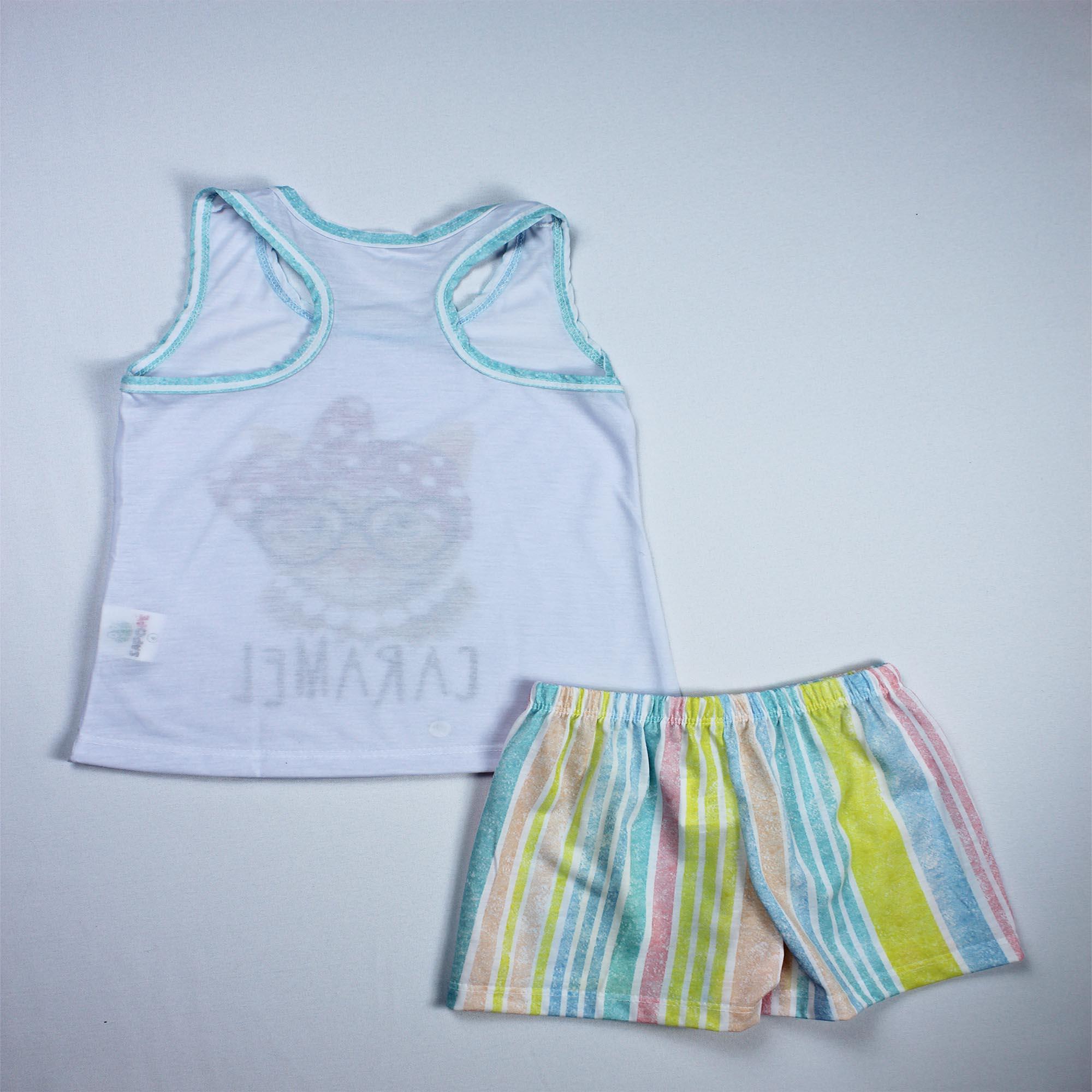 Pijama Regata Infantil Menina - Tamanho 6