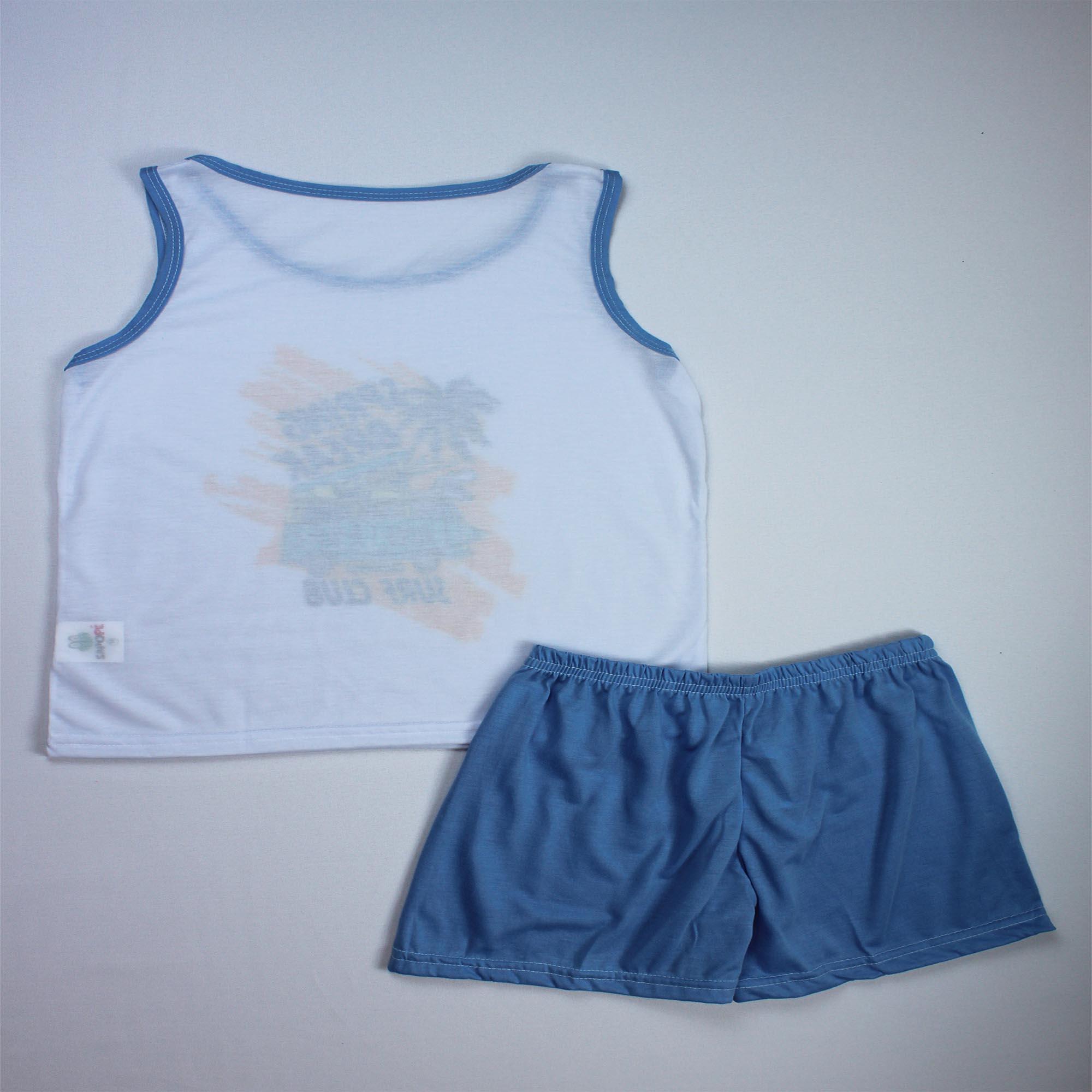 Pijama Regata Infantil Menino - Tamanho 10 e 12