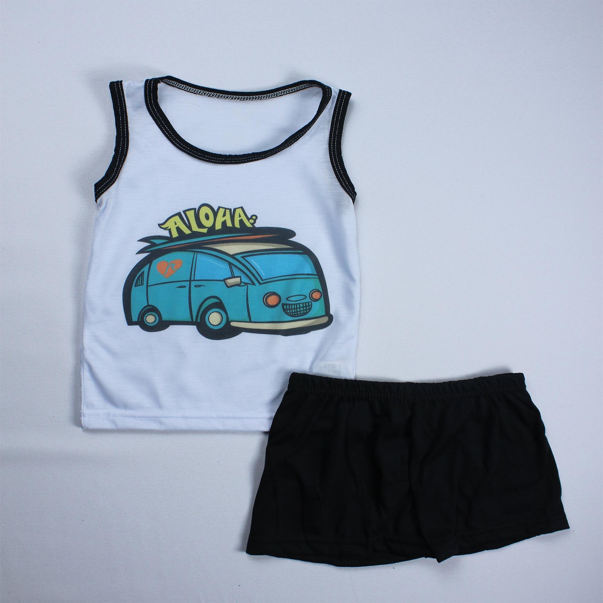 Pijama Regata Infantil Menino - Tamanho 4