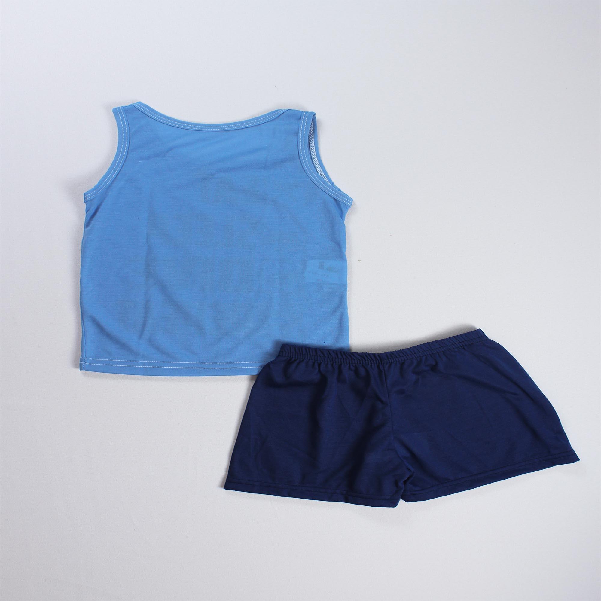Pijama Regata Infantil Menino - Tamanho 4 ao 8