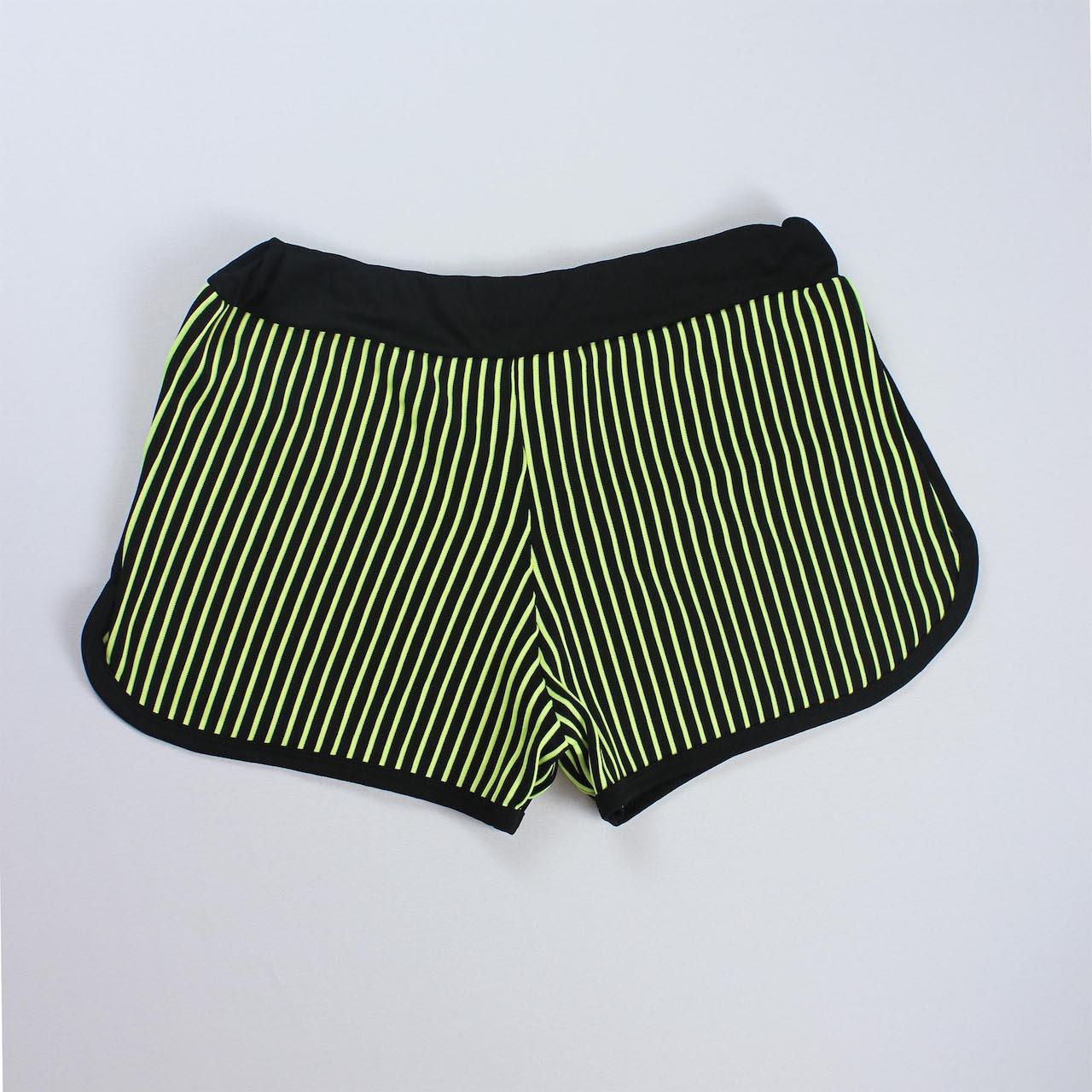 Short 3D Feminino - Preto e Verde Limão