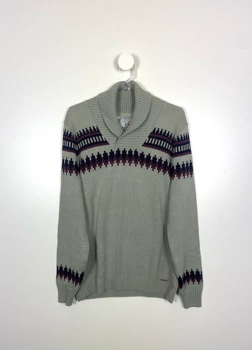 Suéter com Gola Masculino - Tamanho M