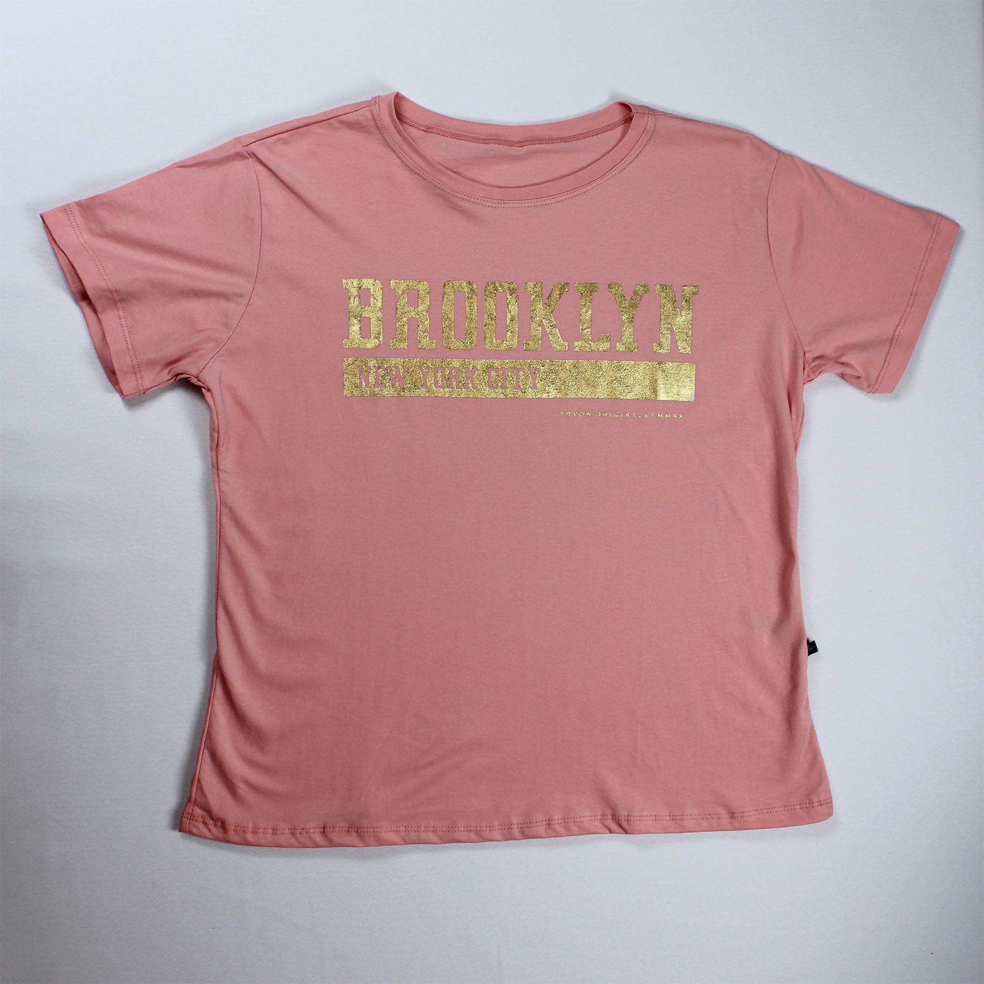 T-Shirt Brooklyn Feminina - Rosa