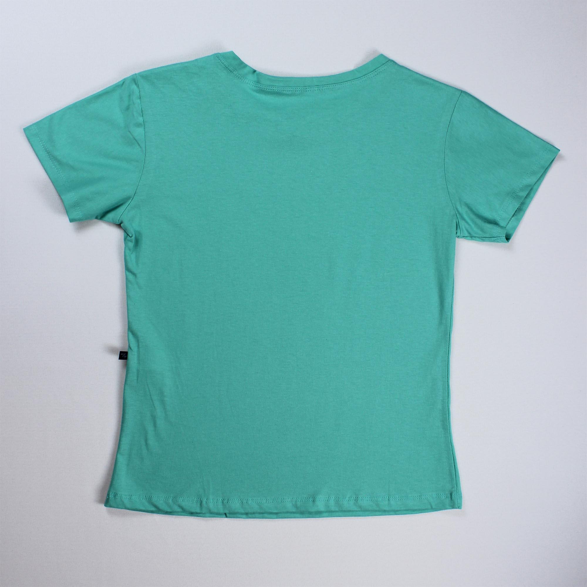 T-Shirt Lion Feminina - Verde Água