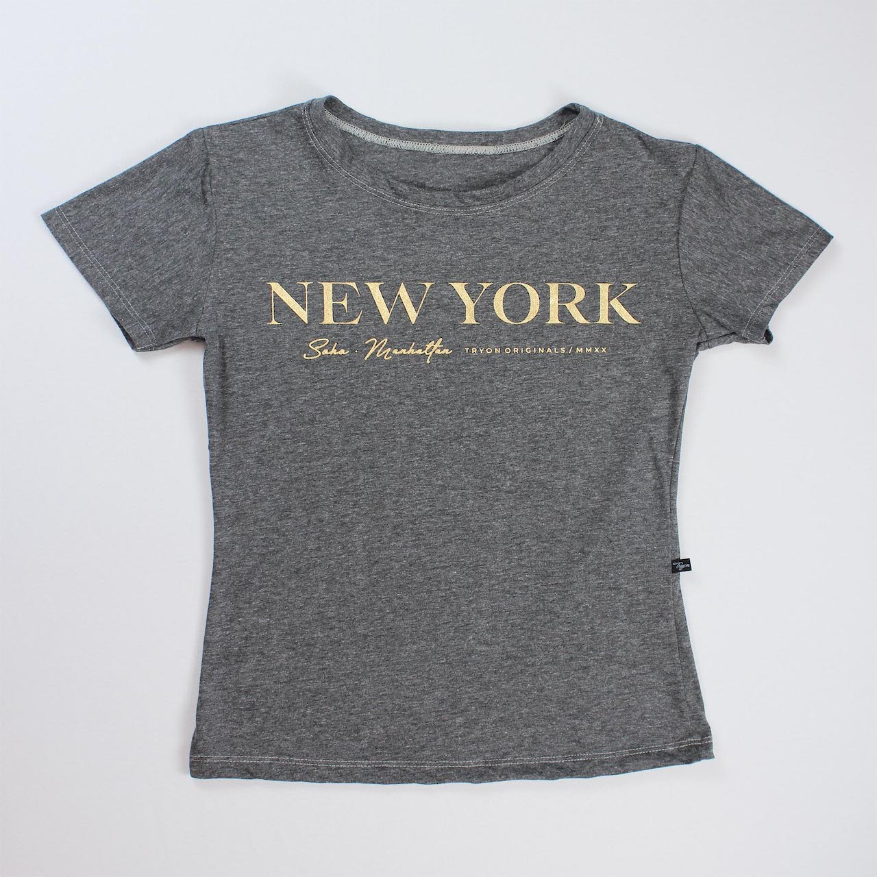 T-Shirt New York Feminina - Cinza Escuro