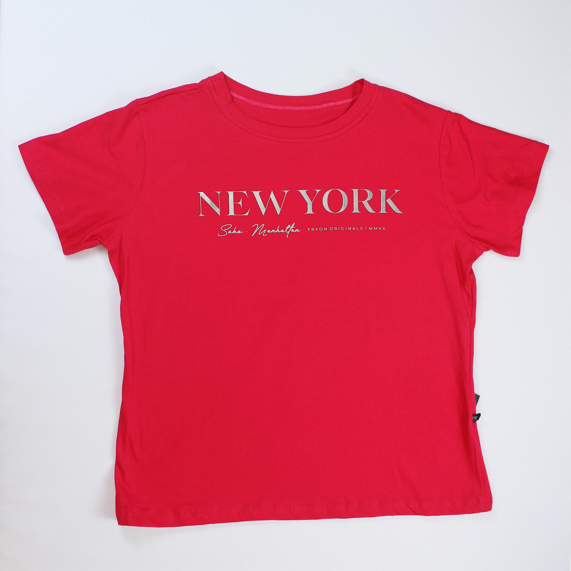 T-Shirt New York Feminina - Rosa Pink
