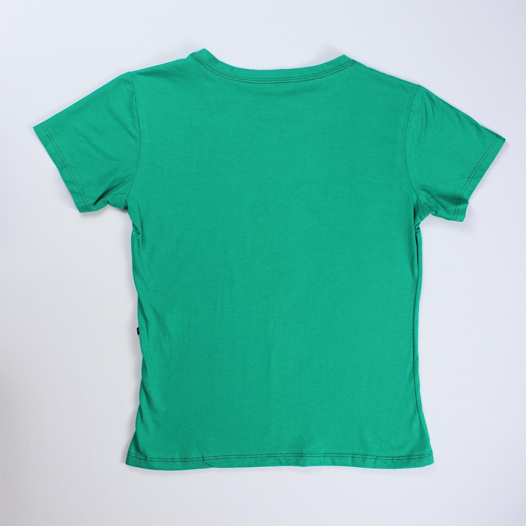 T-Shirt New York Feminina - Verde Água e Prateado