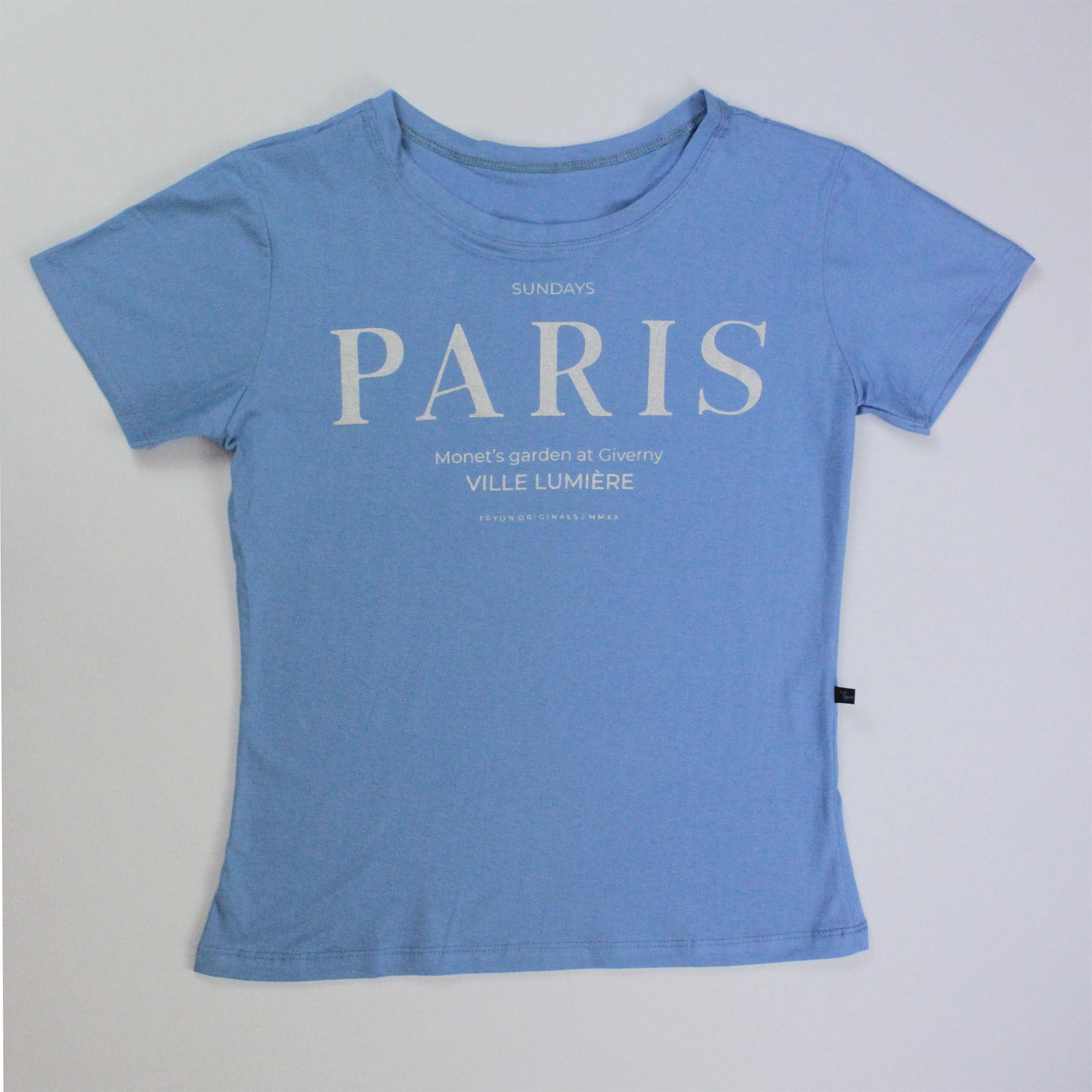 T-Shirt Paris Feminina - Azul