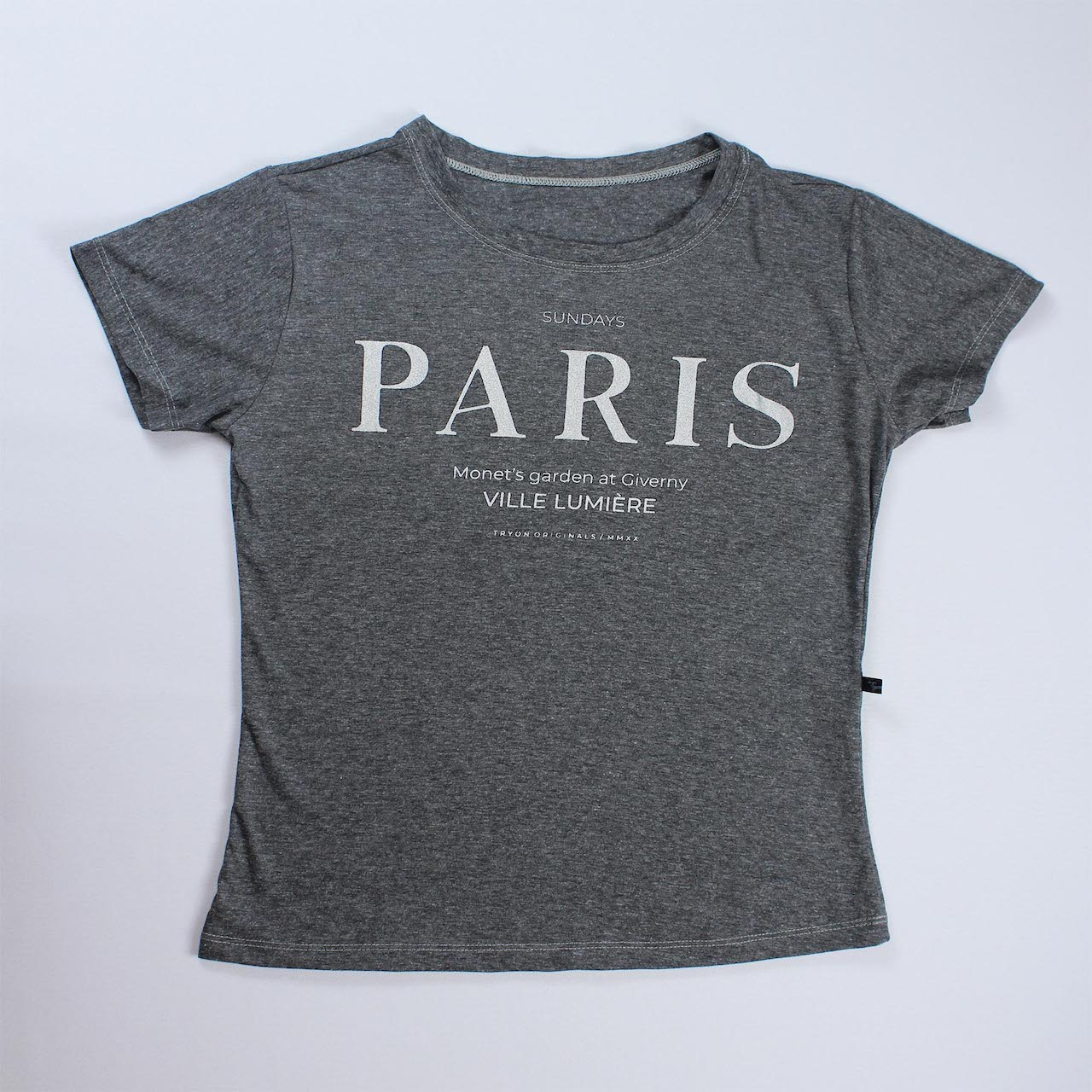 T-Shirt Paris Feminina - Cinza Escuro