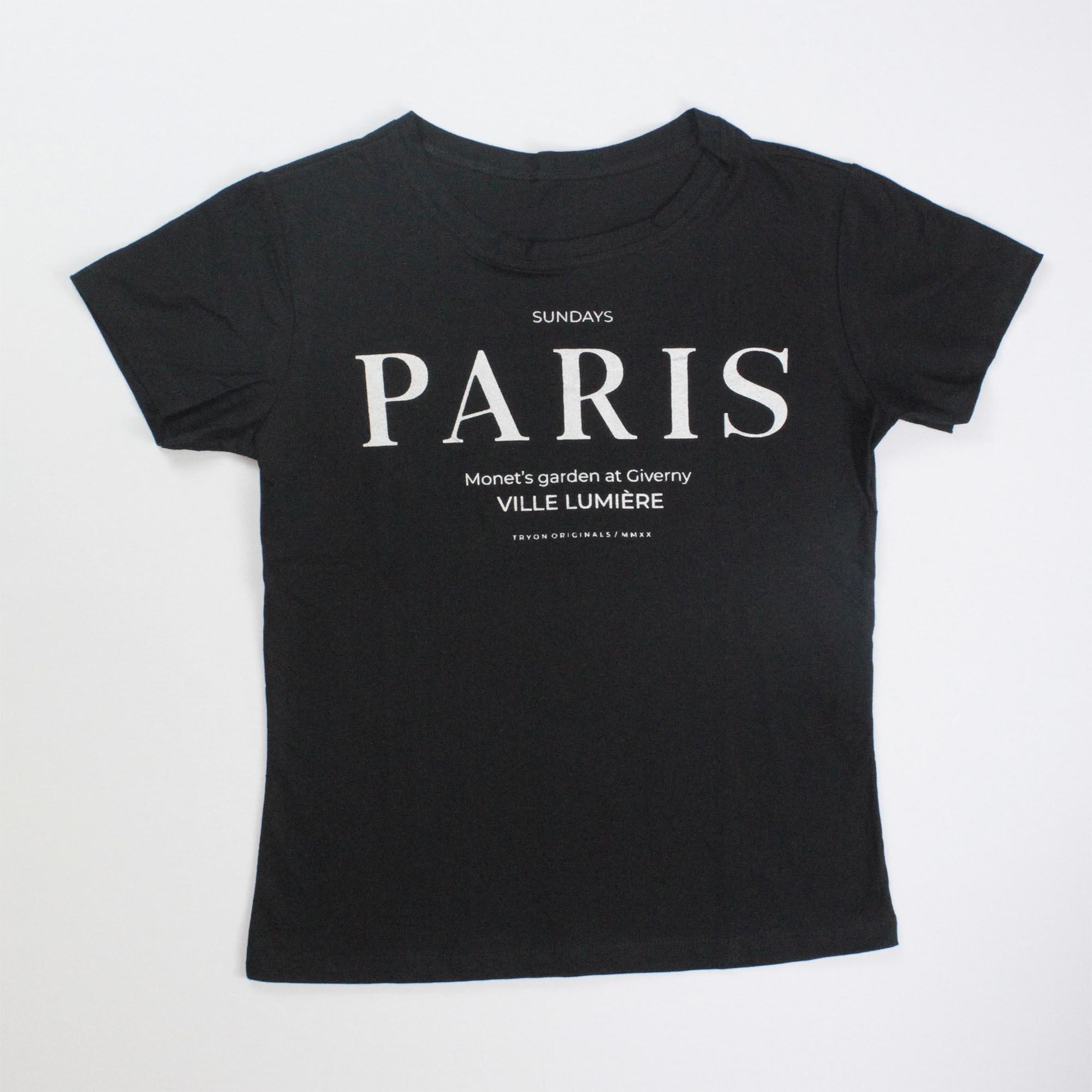 T-Shirt Paris Feminina - Preta