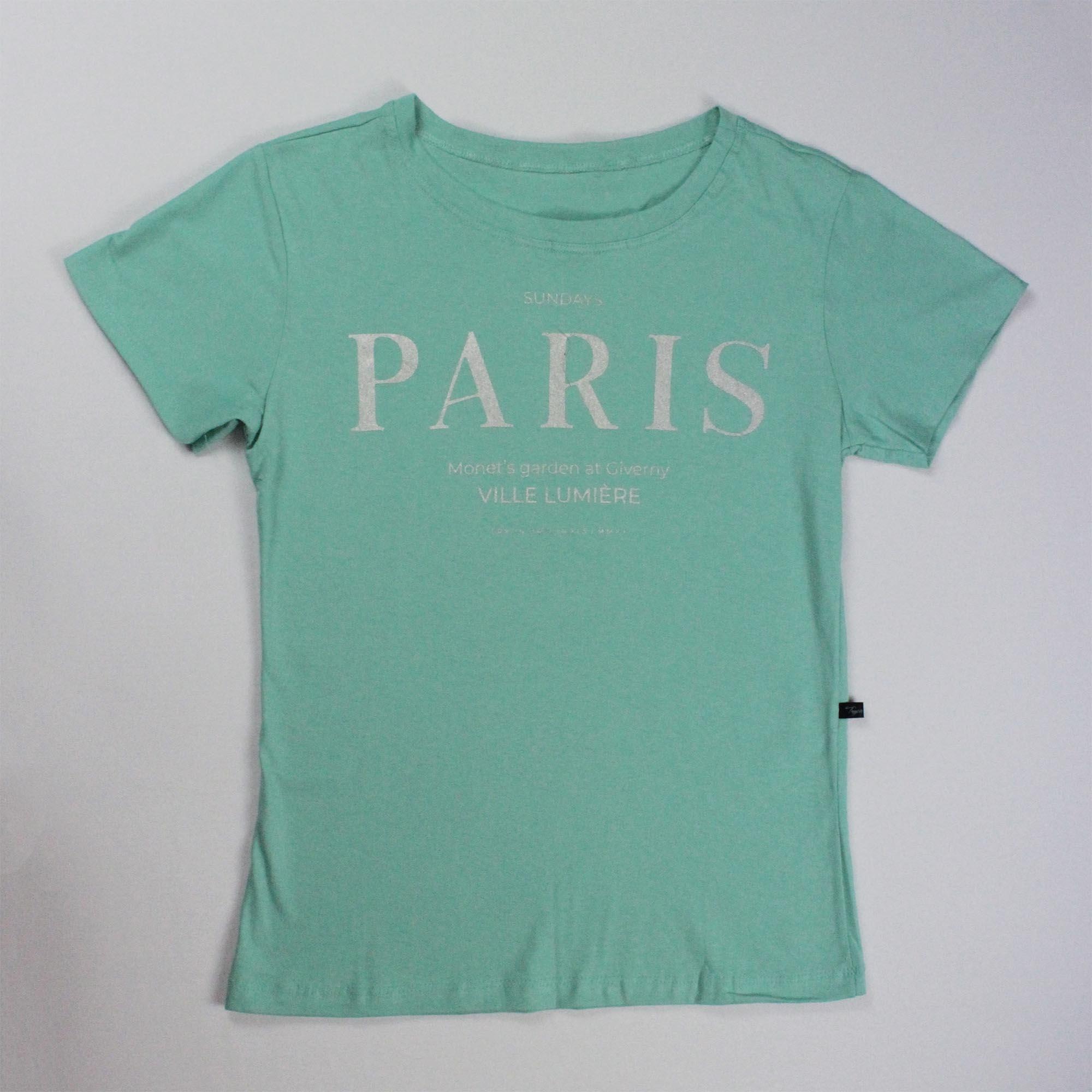 T-Shirt Paris Feminina - Verde Água