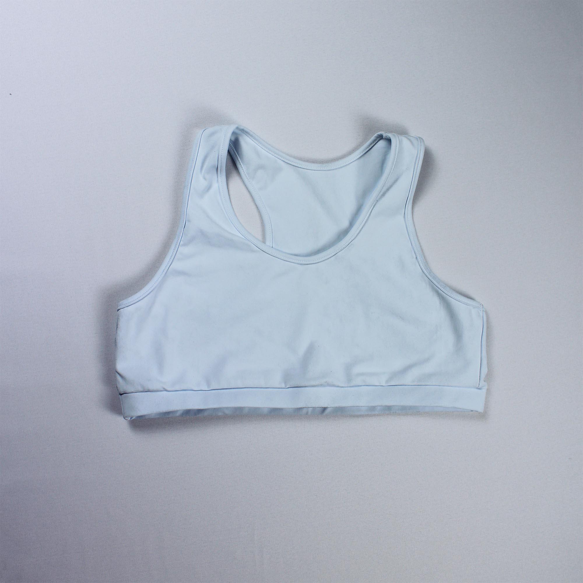 Top Fitness Básico sem Bojo com Tecido Duplo Feminino - Branco
