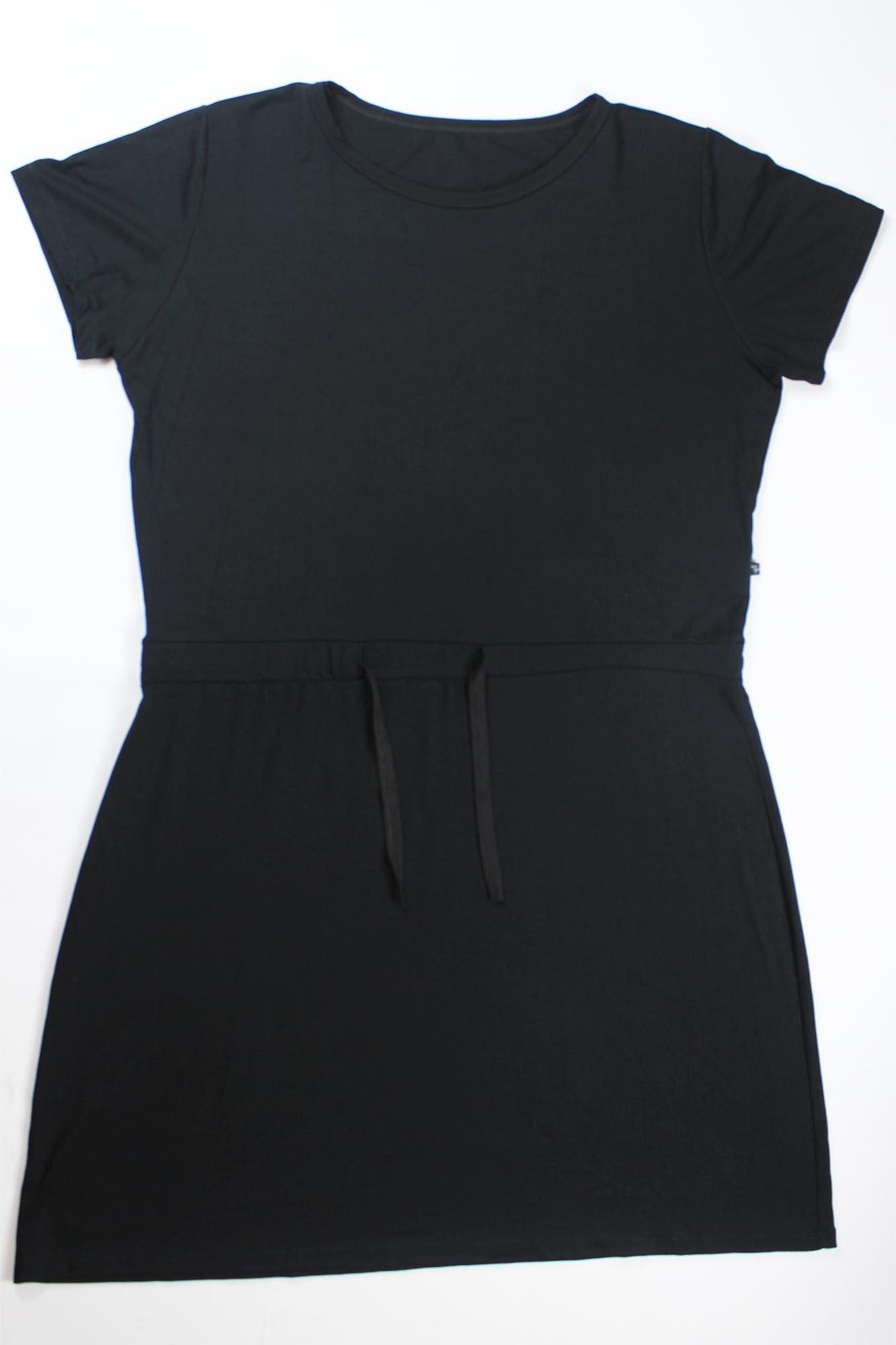 Vestido Curto de Amarrar Feminino - Preto