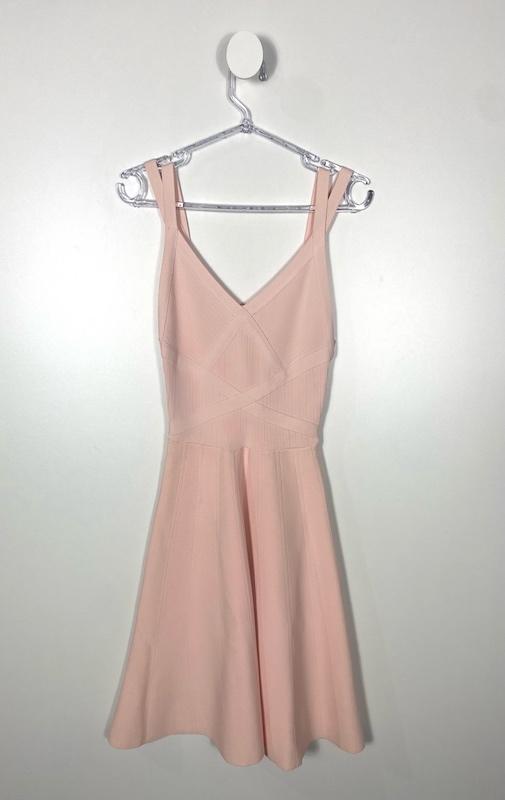 Vestido Curto Rosa Bebe Bandagem Feminino - Tamanho P (Produto Novo)