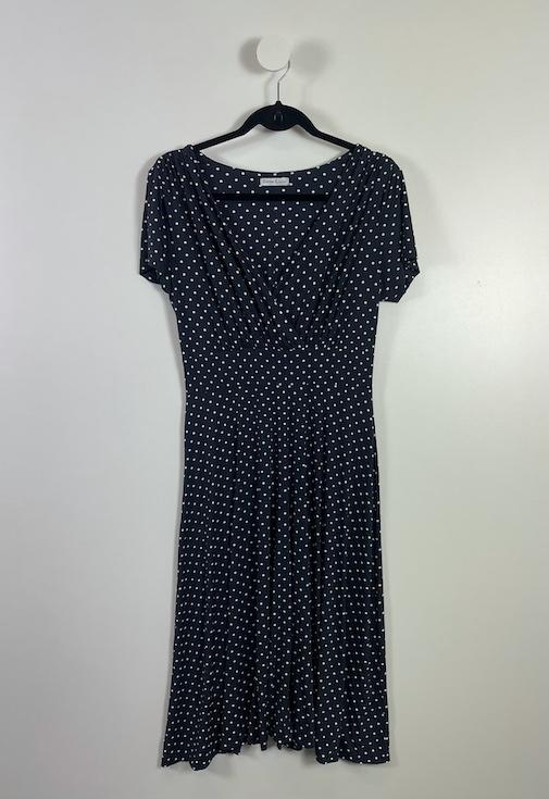 Vestido Midi Poá Feminino - Tamanho GG