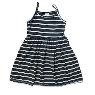 Vestido plissado com alça infantil menina - Tamanho 2