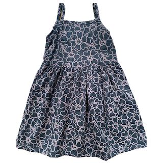 Vestido plissado com alça infantil menina - Tamanho 2 ao 8