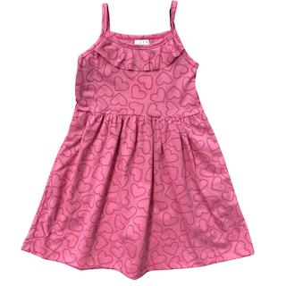 Vestido plissado com alça infantil menina - Tamanho 2 e 6