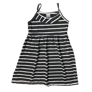 Vestido plissado com alça infantil menina - Tamanho 6 e 8