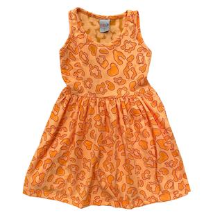 Vestido plissado sem manga infantil menina - Tamanho 2 ao 8