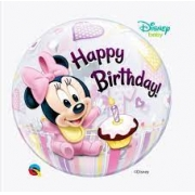 Balão Bubble 22 Polegadas - Minnie Mouse 1 St