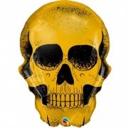 Balão Caveira Dourada 36 Polegadas - 01 unidade