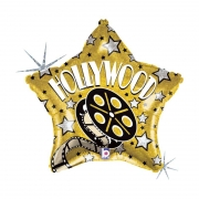 Balão de Hollywood - Estrela Holográfica 18 - 01 unidade