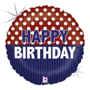 Balão Náutico Happy Birthday 18 - 01 unidade
