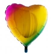 Balão Tie Dye Coraçao 18 Polegadas