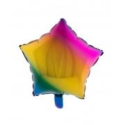 Balão Tie Dye Estrela - 18 Polegadas