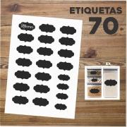 Etiquetas Lousa Rótulo Cozinha Pote / Tempero + Caneta
