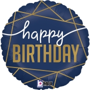 Navy Happy Birthday 18 - 01 unidade