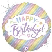 Pastel Happy Birthday 18 - 01 unidade