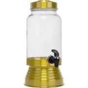 Suqueira de Vidro 3,250L - Dourada