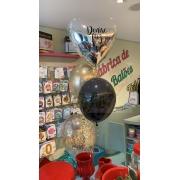 Teddys Bouquet - Arranjo com Balão Metalizado e Balão de Confetes