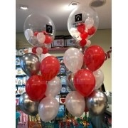 Teddys Bouquet - Arranjo com Bubbles e Balões de Látex
