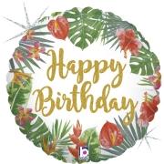 Tropical Happy Birthday 18 - 01 unidade