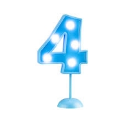 Vela Grande Led Azul - Número 4
