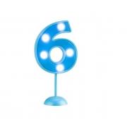 Vela Grande Led Azul - Número 6
