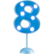 Vela Grande Led Azul - Número 8
