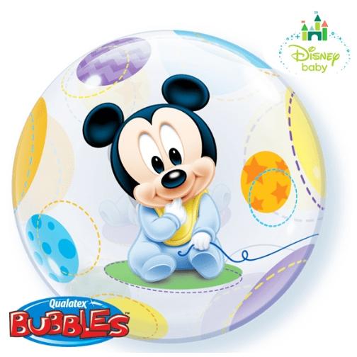 Balão Bubble 22 Polegadas - Baby Mickey Mouse