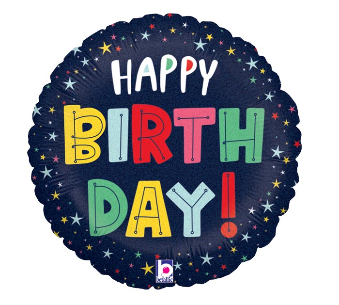 "Birthday Estrelas Holográfico 18"" - Ean :030625261234"