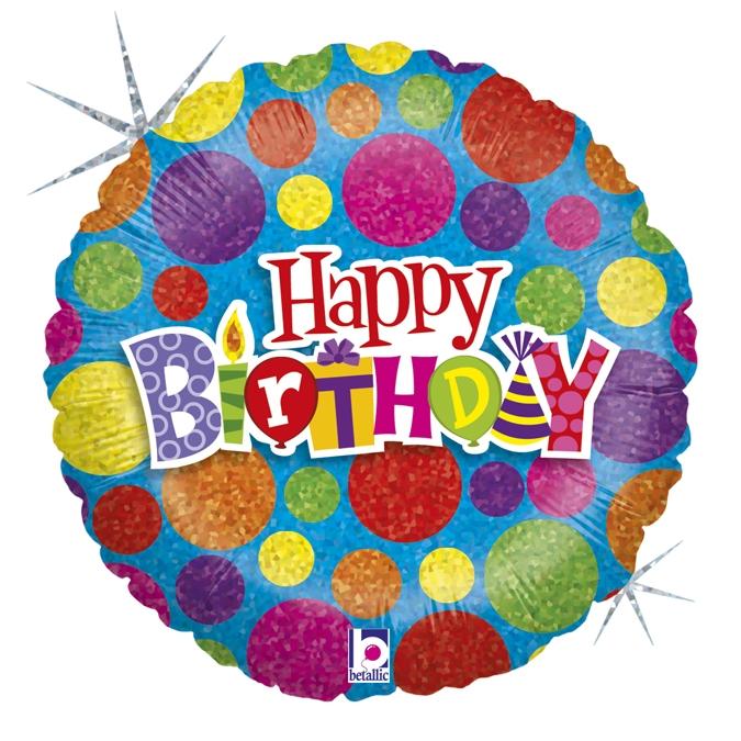 """Confetes Happy Birthday 36"""" - 01 unidade"""